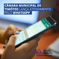 Câmara de Timóteo lança atendimento automático por whatsapp