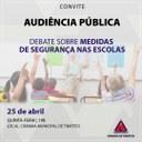 CMT promove audiência pública para debater medidas de segurança nas escolas
