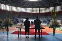 """Ginásio poliesportivo sedia mais um """"Casamento Comunitário"""""""
