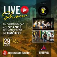 Timóteo celebra 57 anos com live musical